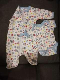 Baby Pyjamas & romper combo set