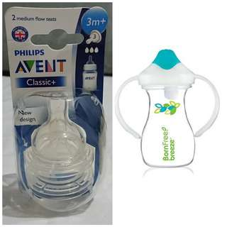 BUNDLE Baby Needs - Avent Teats and Born Free Sippy Cup
