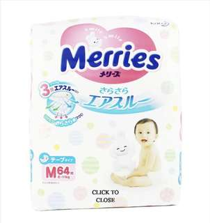 Merries Diapers size m