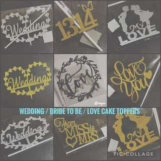 Wedding / Love Cake Topper