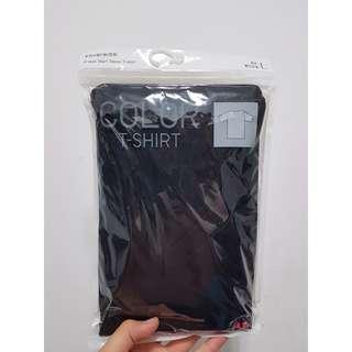 🚚 Uniqlo V領短袖上衣(黑色素面)