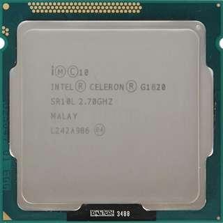 🚚 INTEL Celeron G1820 雙核 CPU / 1150腳位 / 2.7G / 2M快取、內建顯示(散裝良品)