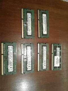 laptop memory ddr3 4gb 2gb pc3L pc3