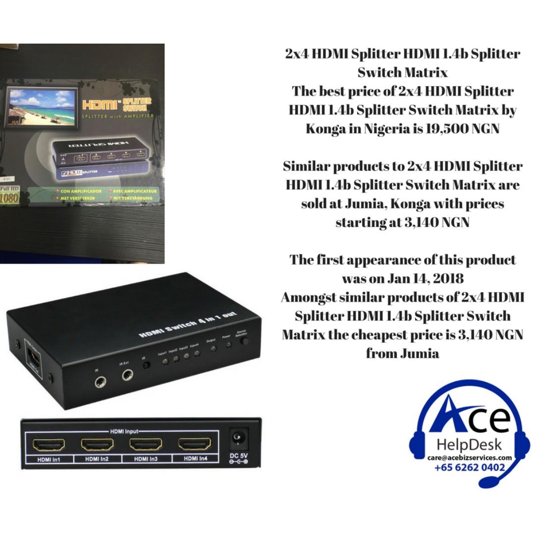 2x4 HDMI Splitter HDMI 1 4b Splitter Switch Matrix