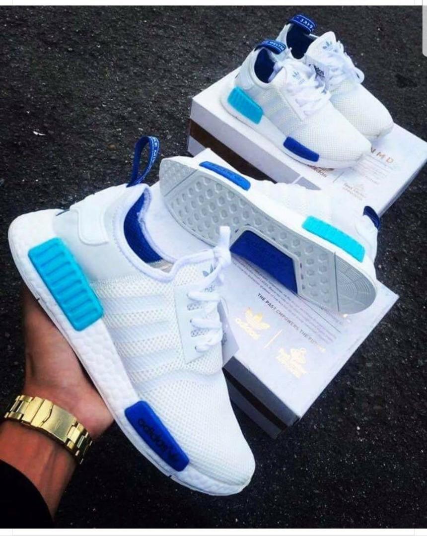 1726a3c2b ADIDAS NMD BLUE   WHITE