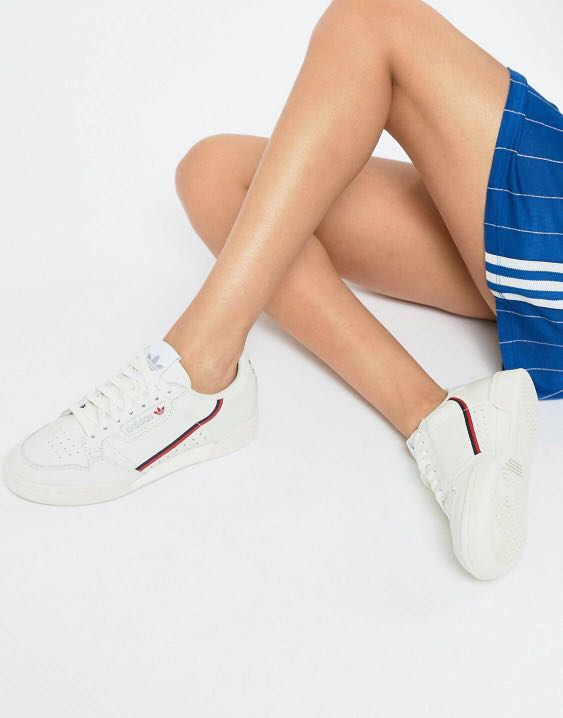 sports shoes 2f73a 80b94 adidas originals continental 80 s trainer in off white and red, Men s  Fashion, Footwear, Sneakers on Carousell