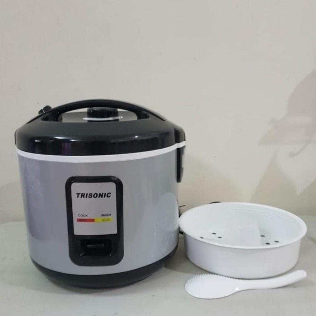 Alat Masak Nasi Trisonic Rice Cooker T - 707 N 1,2 Liter, Home & Furniture on Carousell