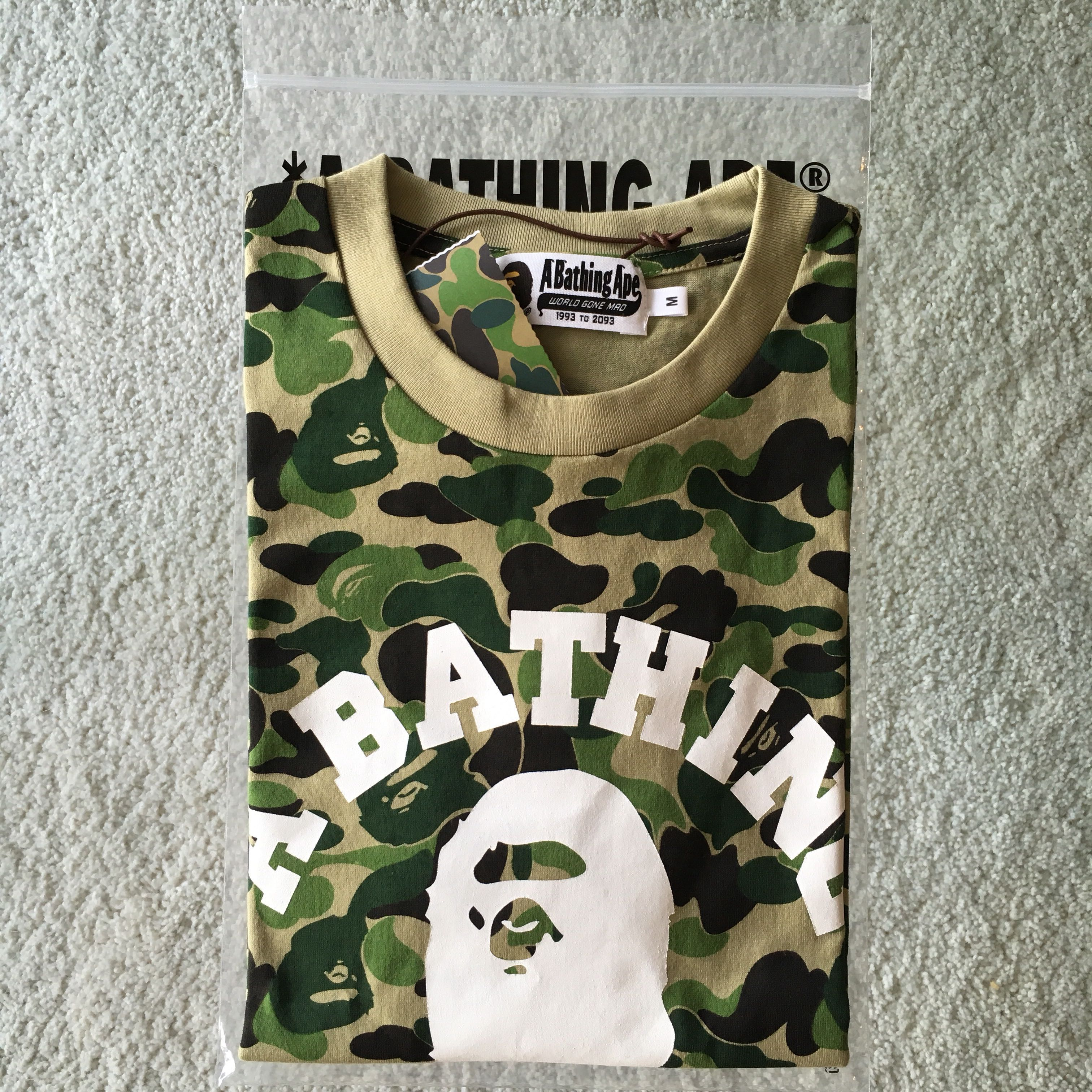 bc895de1 BAPE ABC COLLEGE TEE , Men's Fashion, Clothes, Tops on Carousell