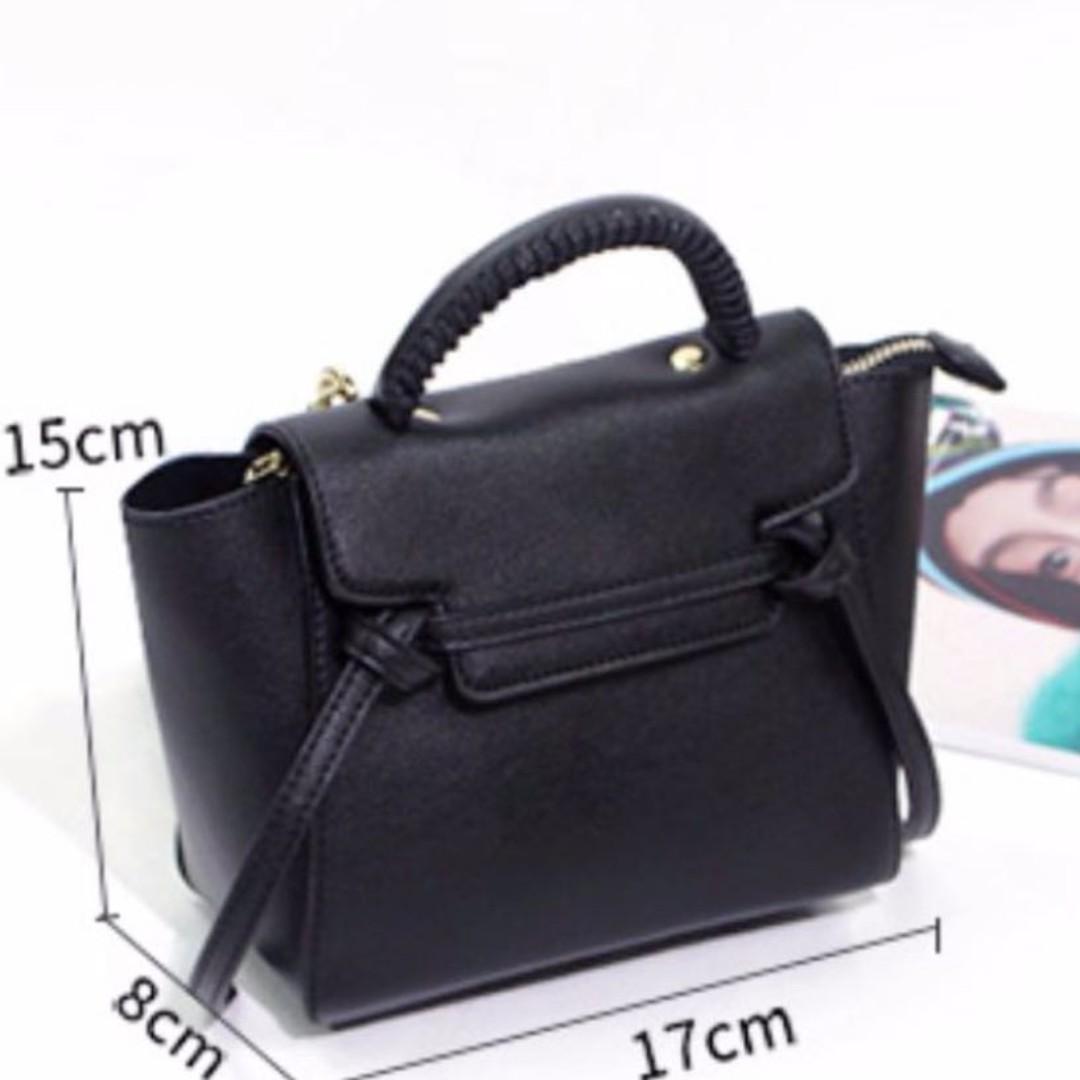 be9fa57d26afb BN Celine Inspired Black Crossbody Slingbag, Women's Fashion, Bags ...