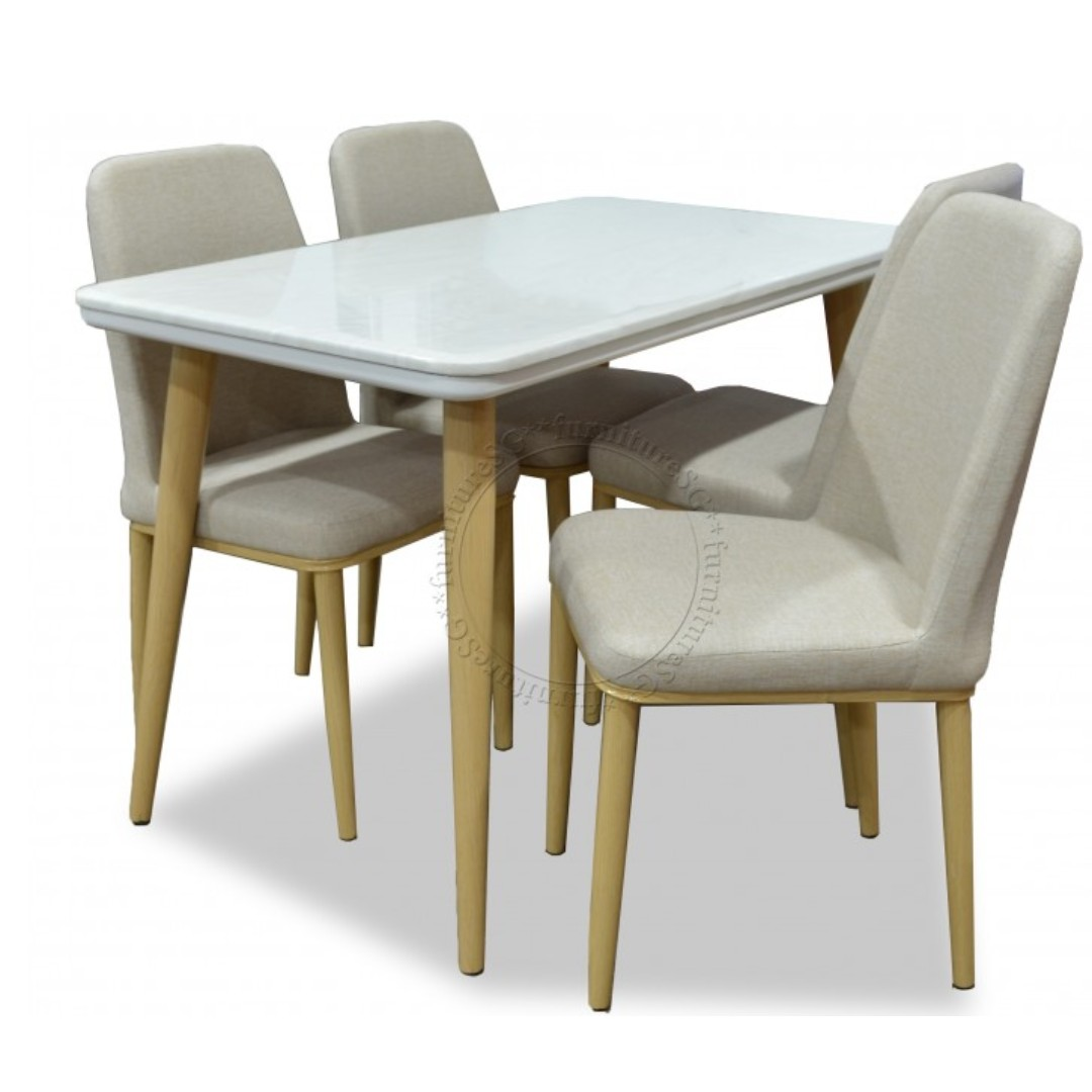 Brand New Cultured Marble Dining Table 4 Chairs