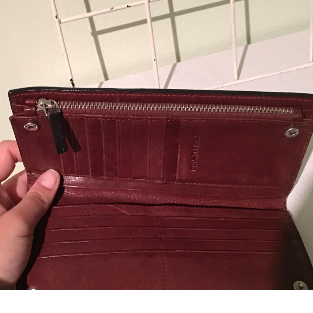 Country Road Red&Black Long Wallet