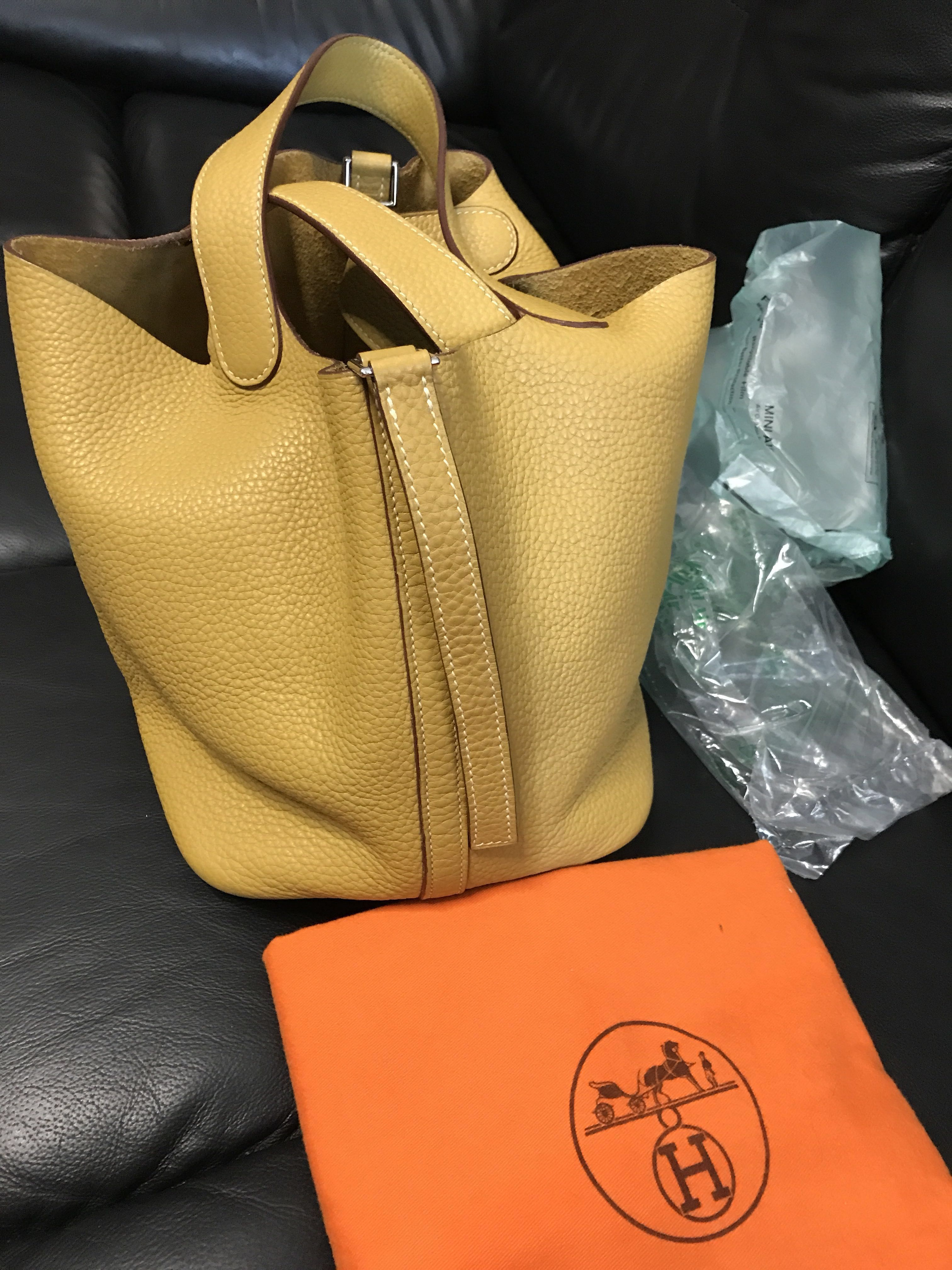 18594dcf00e7 ... france hermes picotin 22 jaune curry phw l luxury bags wallets handbags  on carousell 9266f c7add