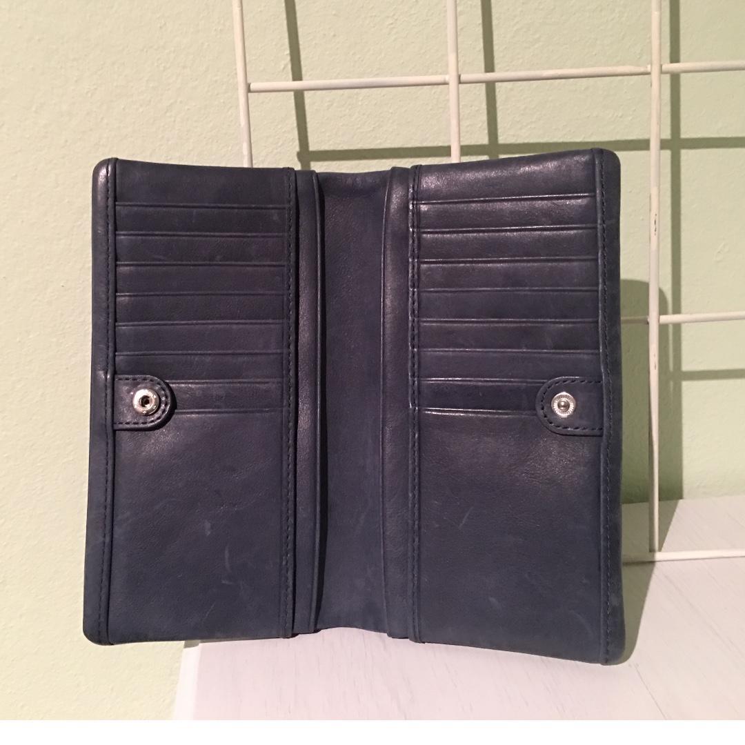 Ecco Blue Grey Wallet