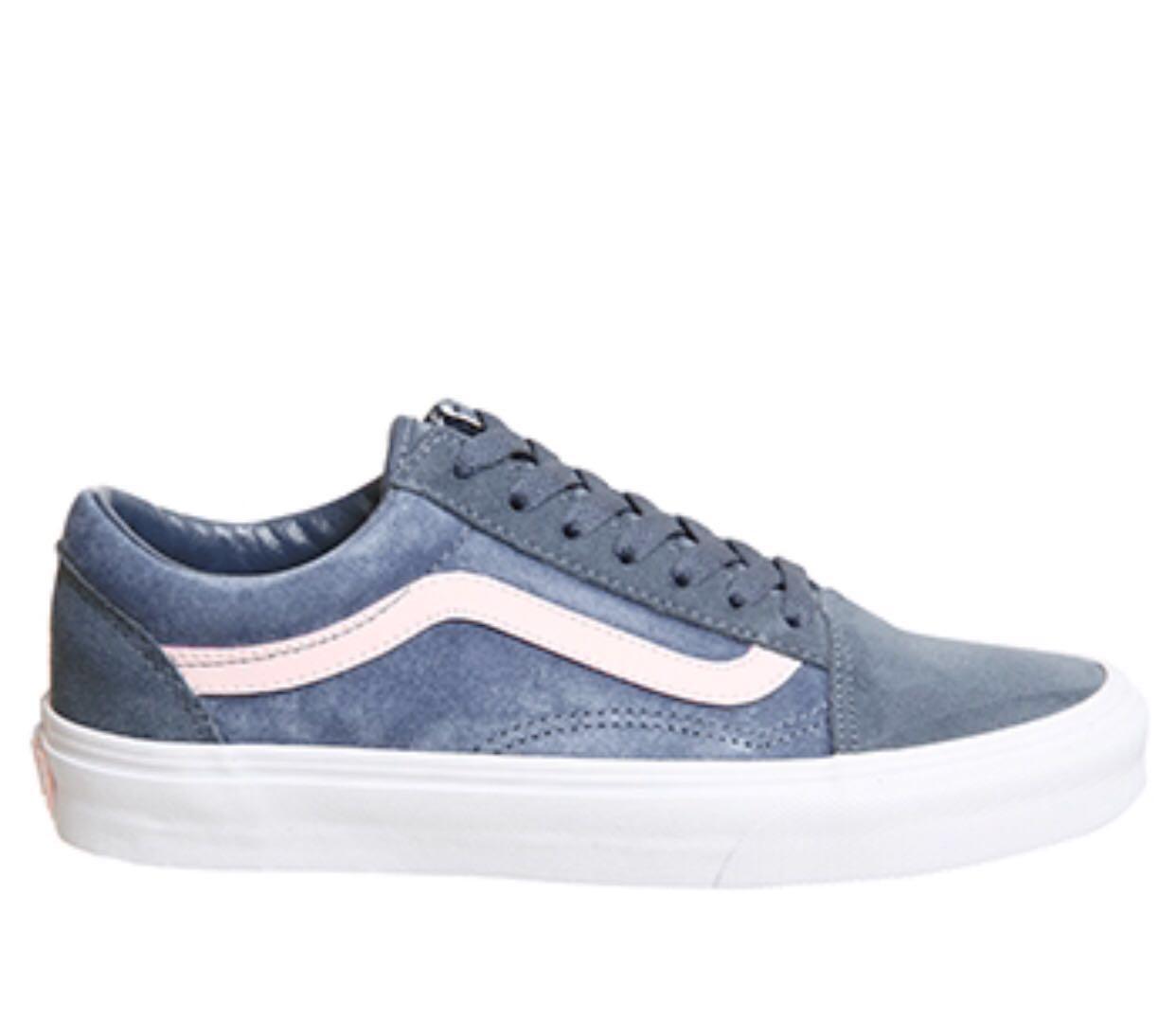 Vans Old Skool Blue Pink Sole UK 4-7