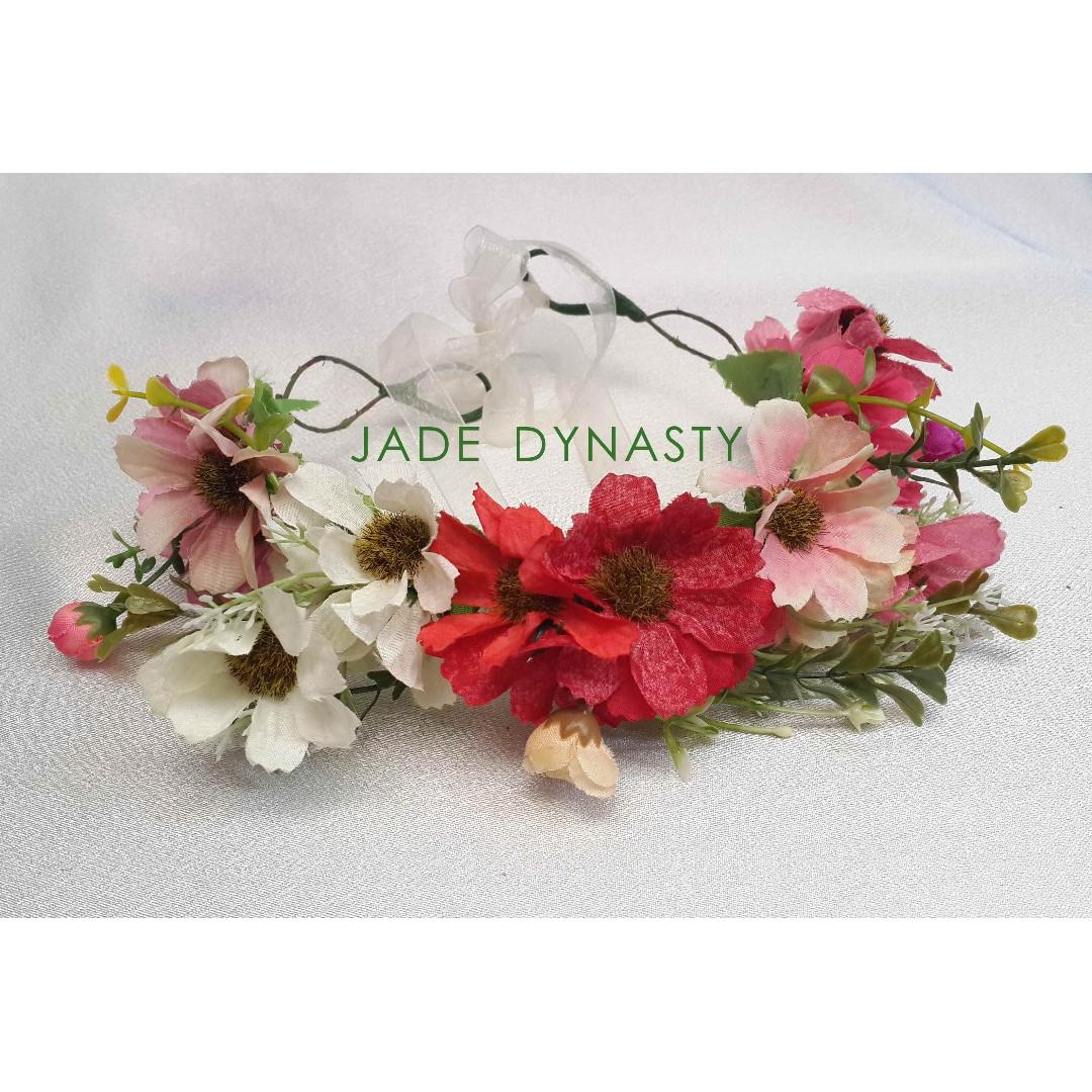 flower crown flower crown murah flower crown merah putih mahkota bunga bando  bunga bando merah putih 2542d8ddc95