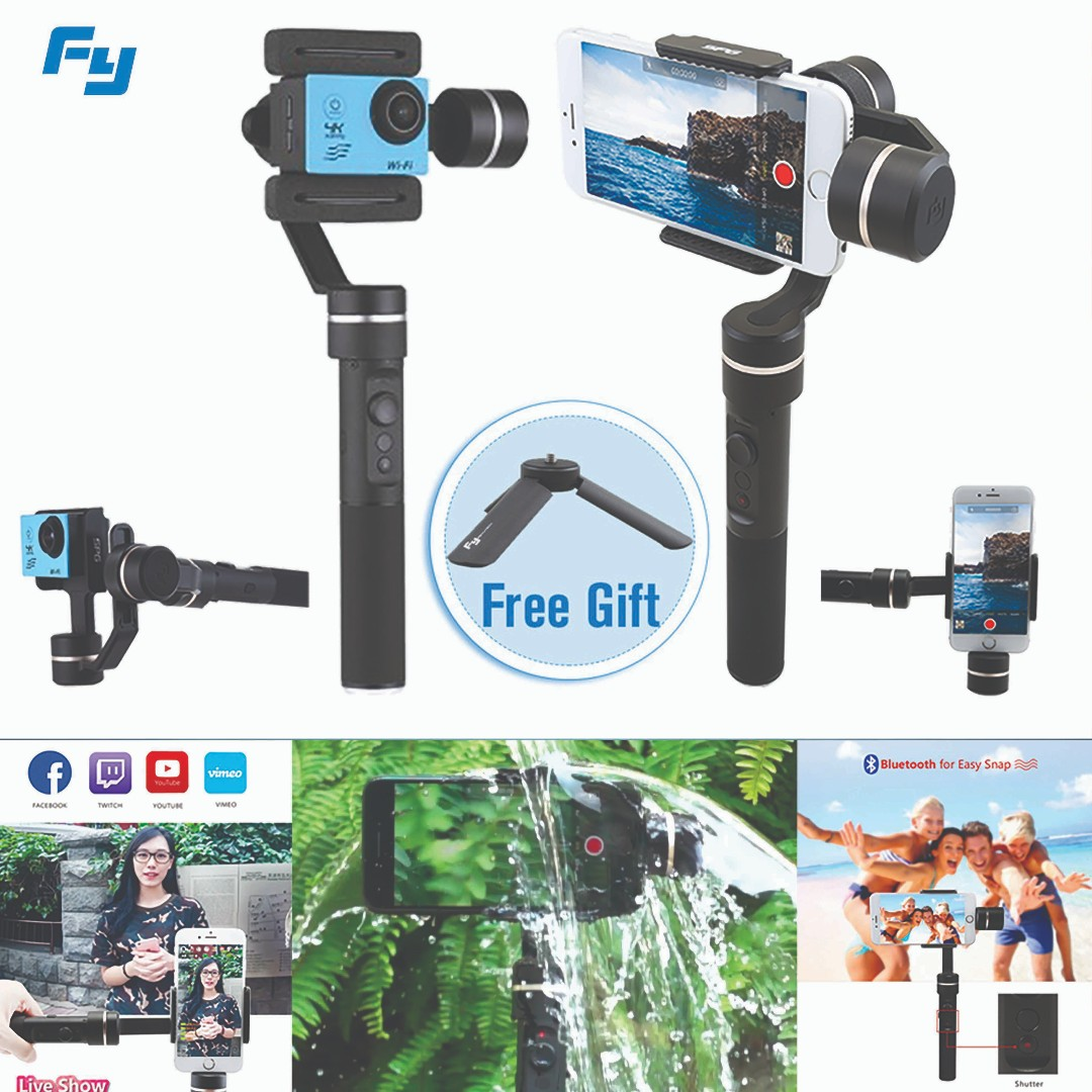 Free Tripod Feiyu Spg 2017 Model Spalshproof 3 Axis Gimbal Pole For Zhiyun Crane 3axis M Smooth Q Stabilizer Photography Camera Accessories Others On Carousell