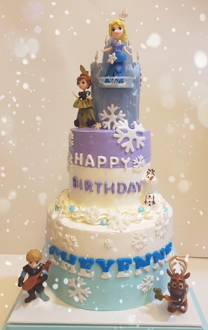 Sensational Frozen Them Birthday Cake Elsa Anna Food Drinks Baked Goods Personalised Birthday Cards Cominlily Jamesorg