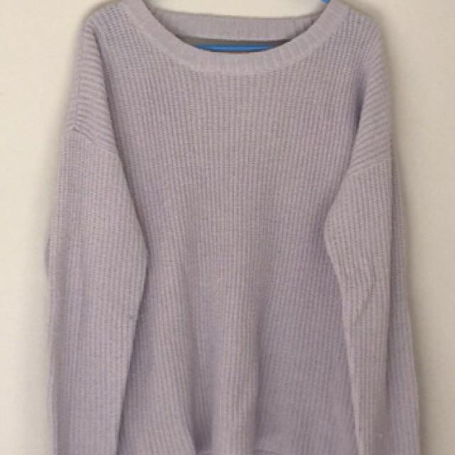 Grey Knitted Long Sleeve