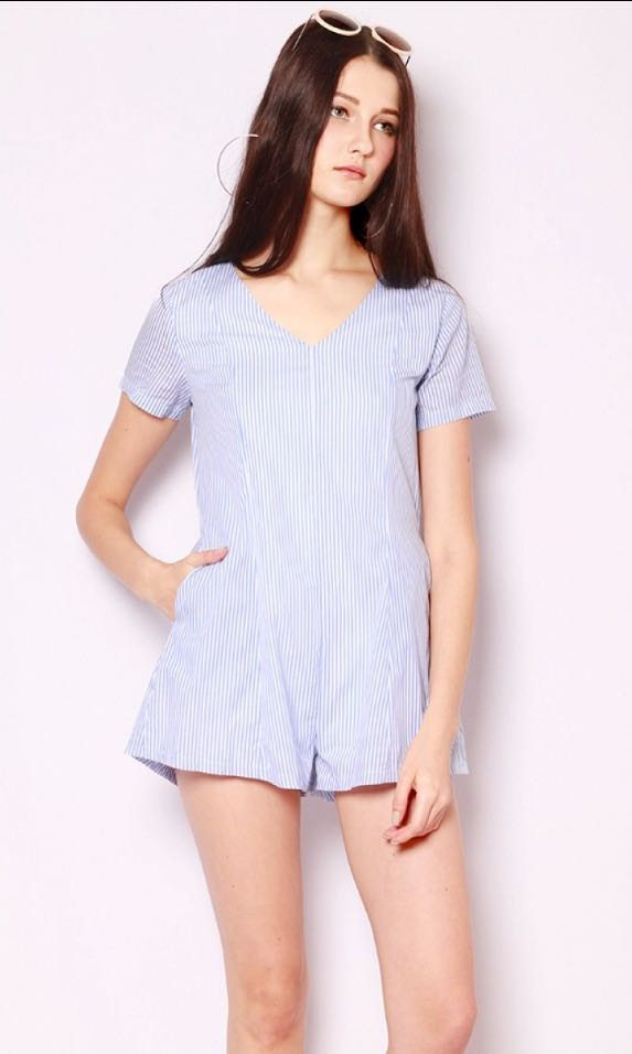 41bf3899d05 GSS💯 SSD Shopsassydream Tandy Playsuit Blue Stripes