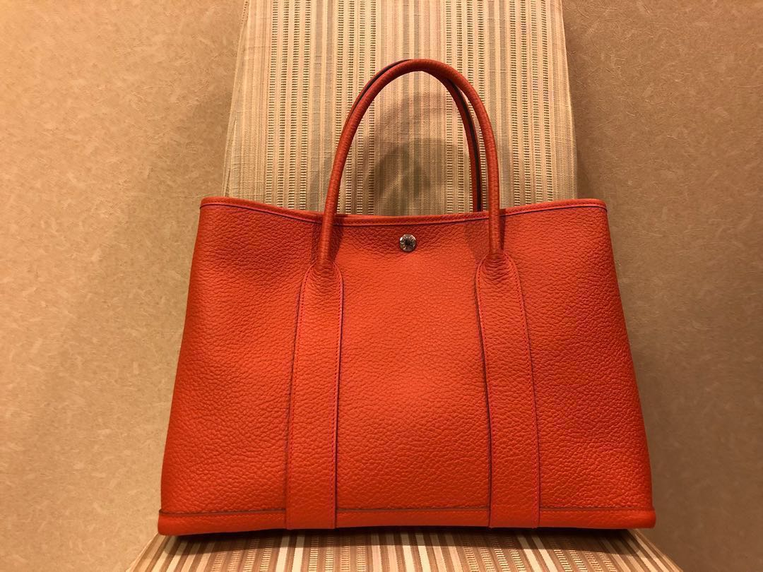 06fbb53dfcfa Hermes Garden Party 36 2018 Capucine Orange Vache Country Leather New in  Box With Receipt