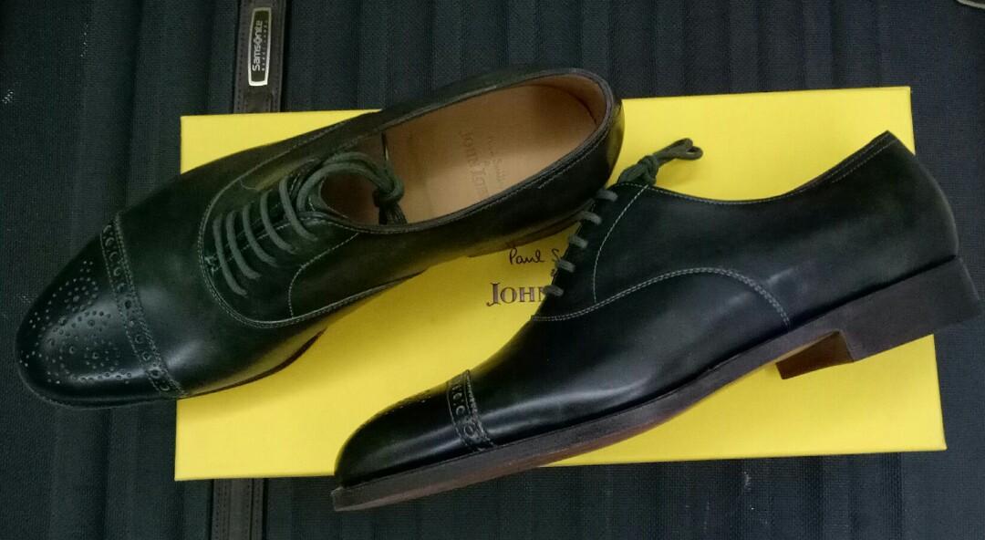 8bcc85fbd64c69 John Lobb Westbourne Leaf Green Museum Calf 6.5 BNIB, Men's Fashion,  Footwear, Formal Shoes on Carousell