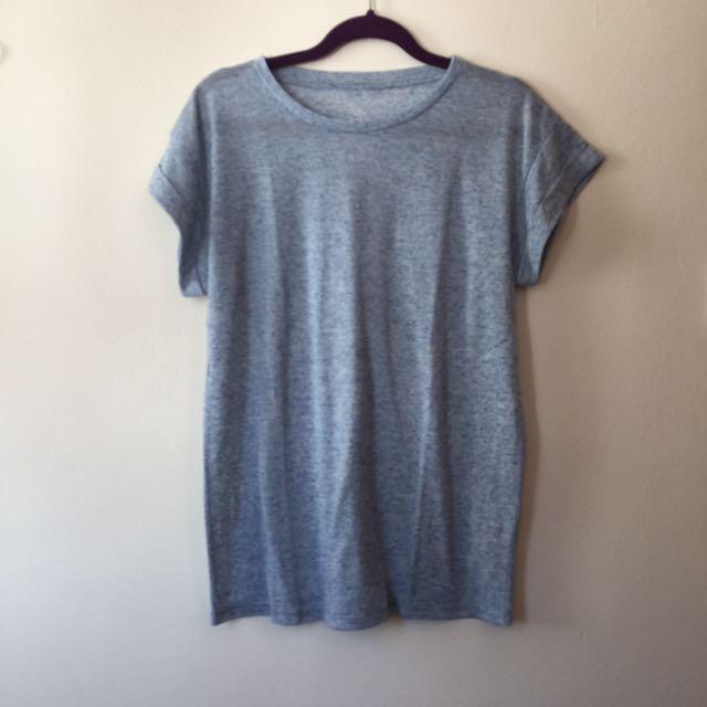 90778209 Light Blue Tshirt Tee UK 10/38/36, Women's Fashion, Clothes, Tops on ...
