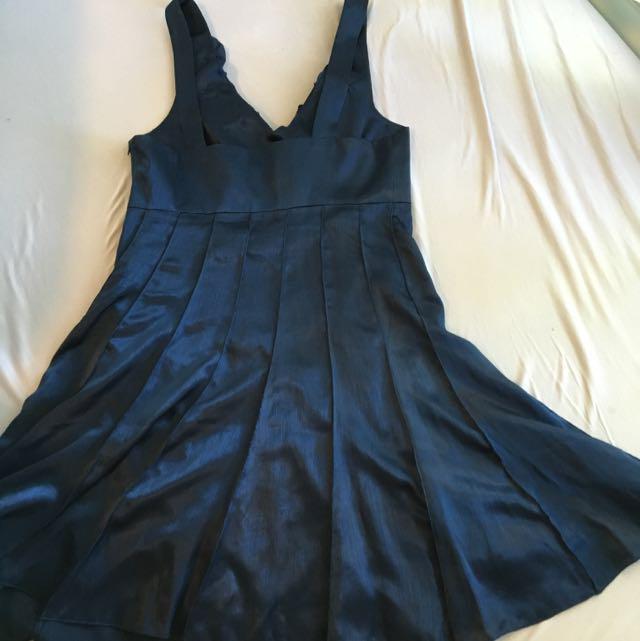 Metallic Navy Dress
