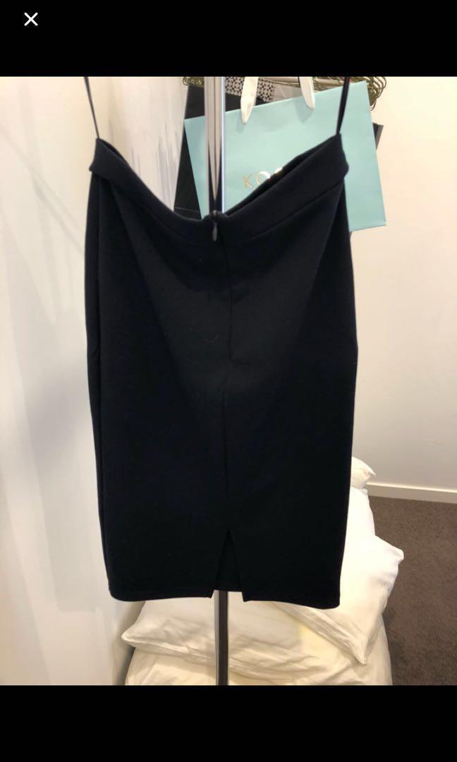 Navy Midi Skirt - Size 8