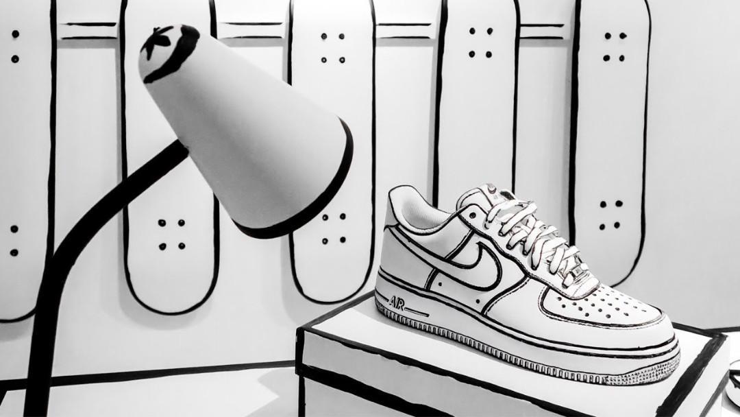 sports shoes 8642c e829b Nike air force 1 'cartoon' customs, Men's Fashion, Footwear ...