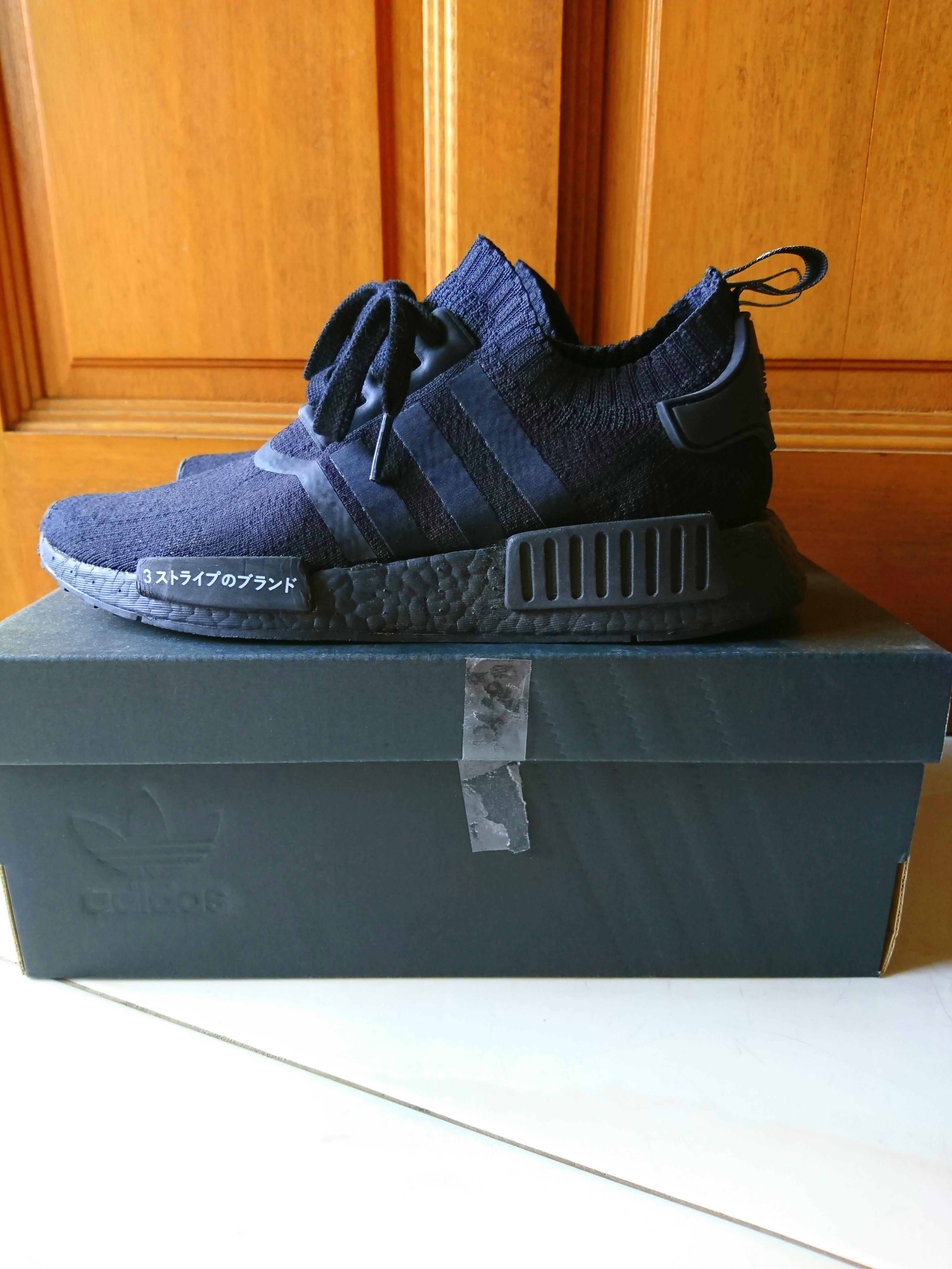 d4f25b464c58 Adidas NMD R1 PK Japan Triple Black