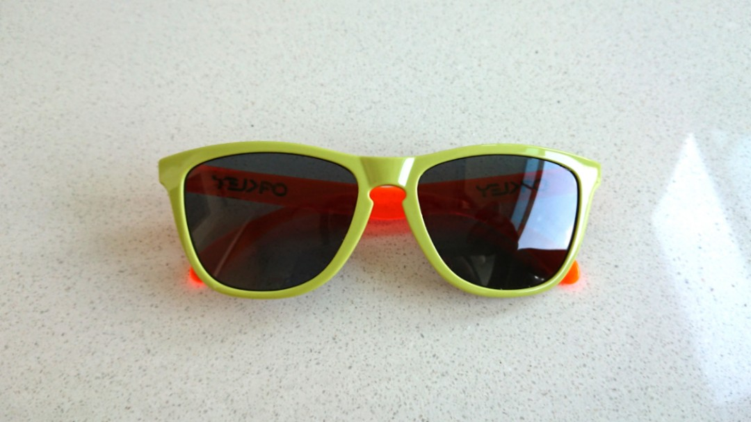 1337816bf2 Oakley FrogSkins Lime Green  Orange (Unisex)