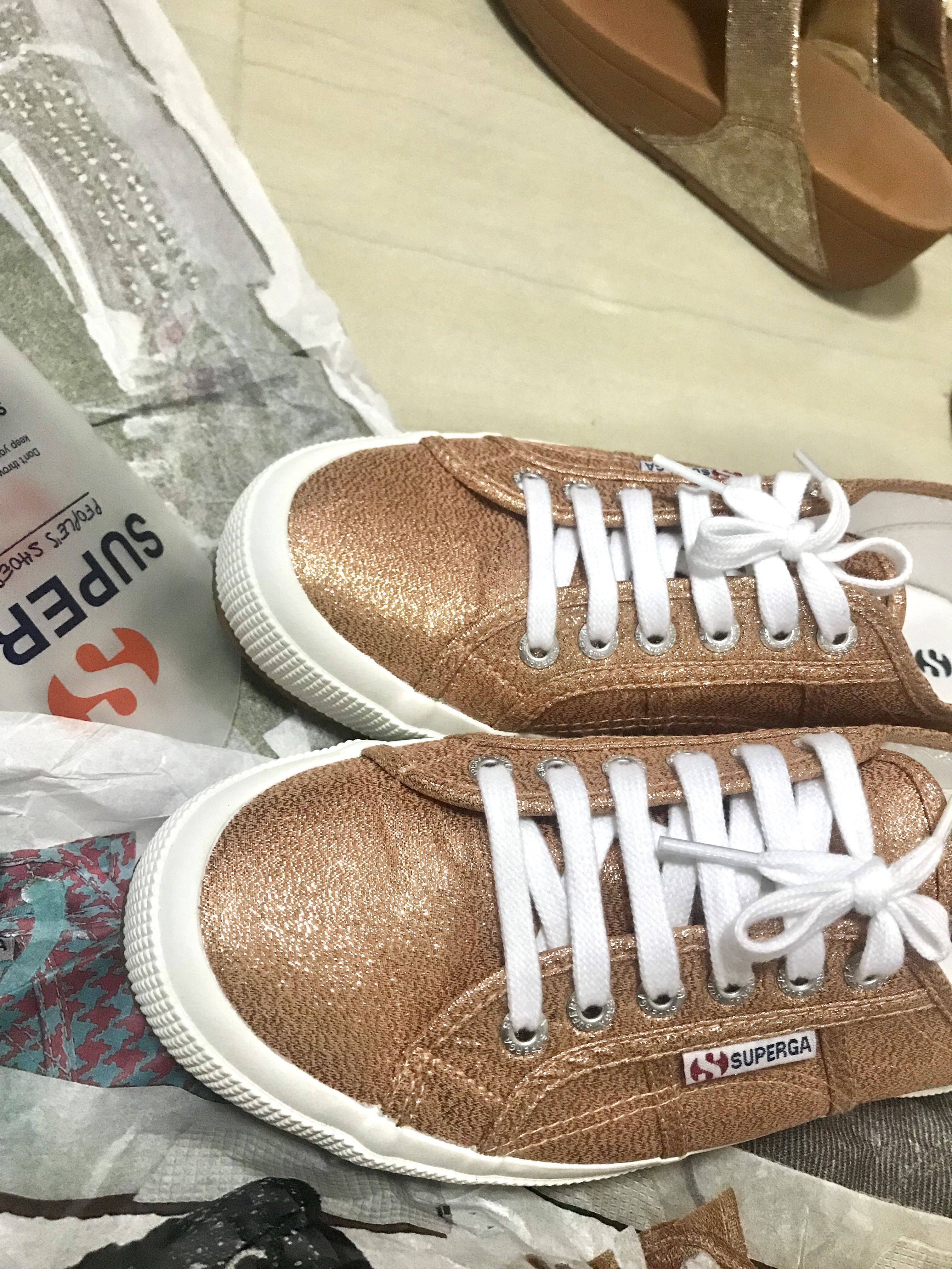 e0d57cf57a53f Original SUPERGA Lamew Rose Gold Size 40, Women's Fashion, Shoes, Sneakers  on Carousell