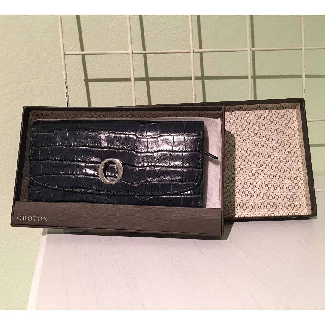 Oroton Blue Long Wallet
