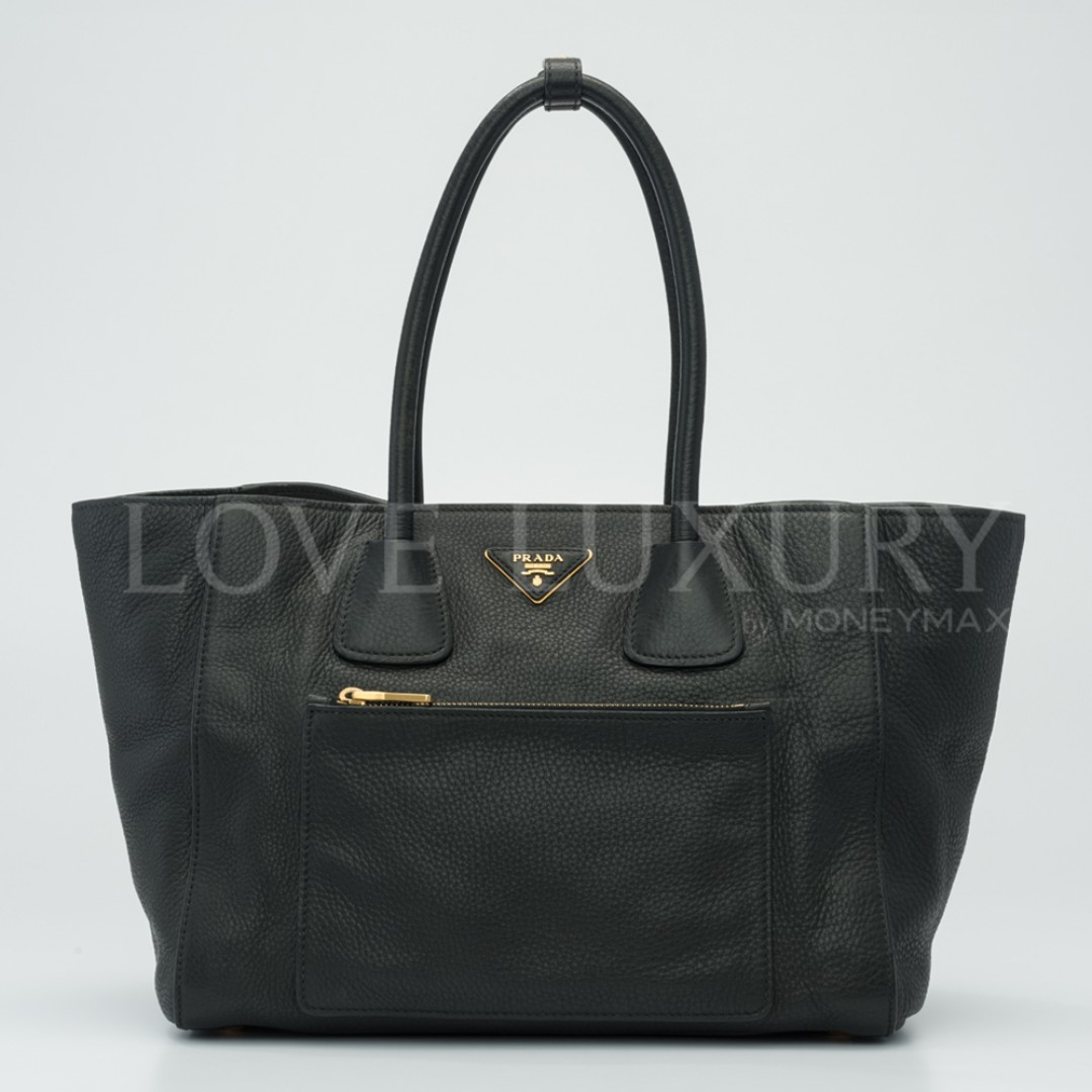 8f83c93dfdef51 Preowned Prada, Vitello Daino Shopping Tote - BN2795 (POB0006173 ...