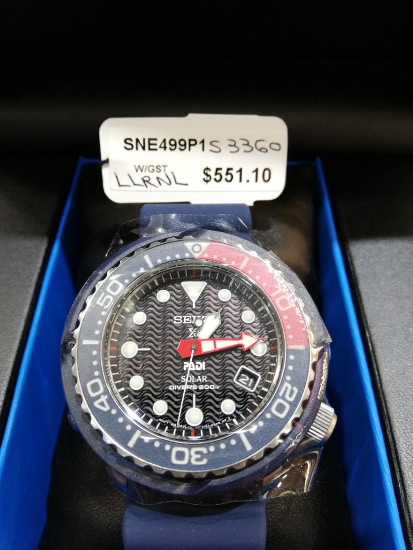 576f34787 Seiko Prospex Padi Solar Tuna SNE499P1, Men's Fashion, Watches on Carousell
