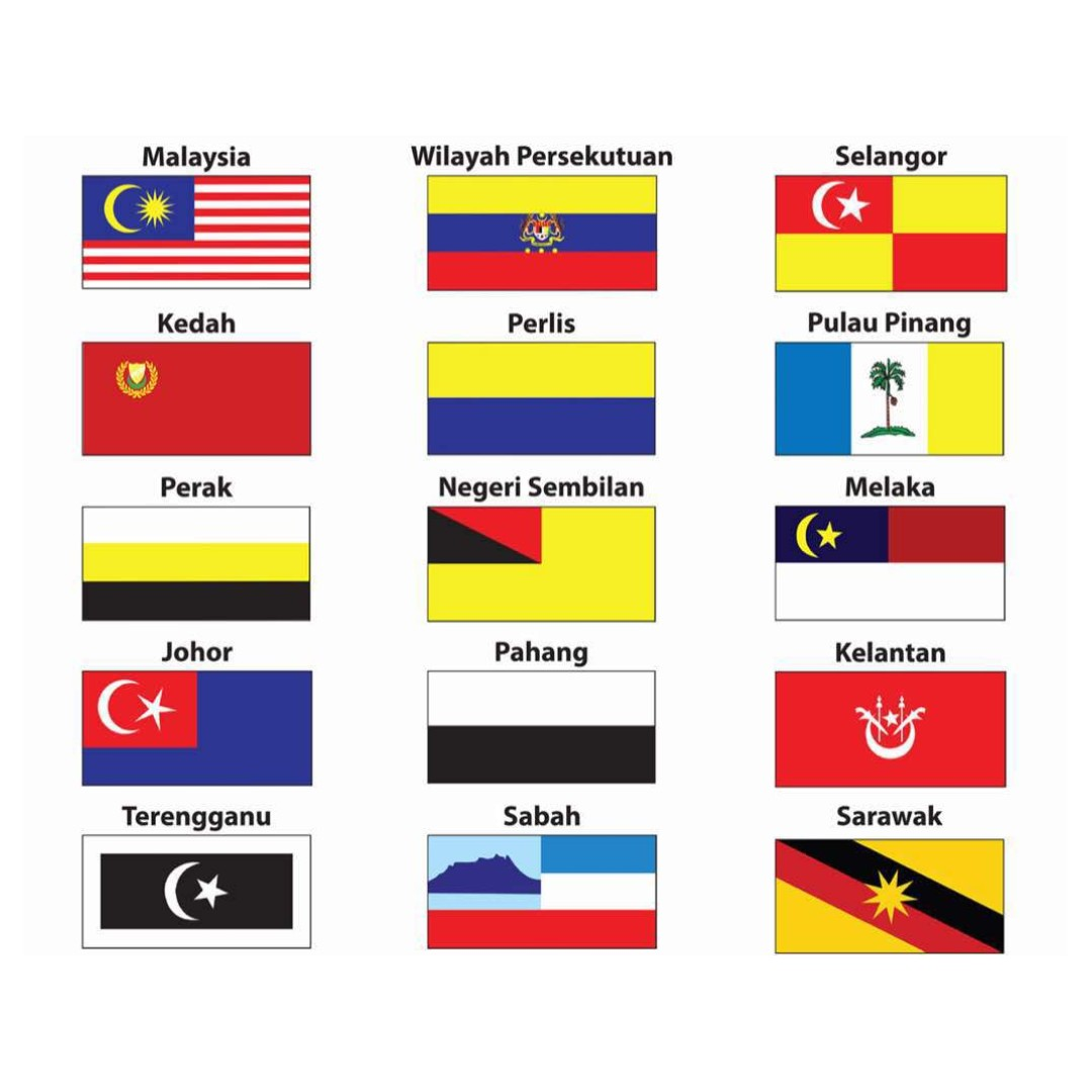 Set 1x2 Ft Polyester Bendera 15 Negeri Msia 2187 Home Furniture Others On Carousell