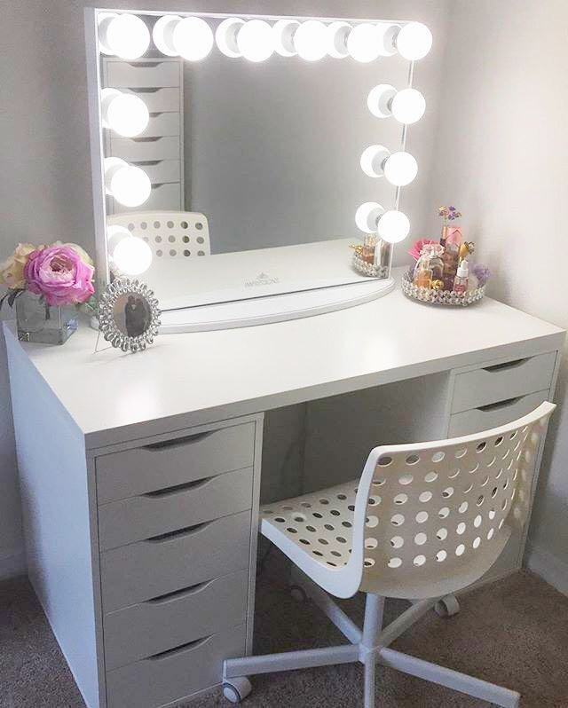 Super Sale Frameless Hollywood Vanity Mirror Table And Wooden