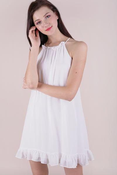TTR Ellery Trapeze Dress (White)