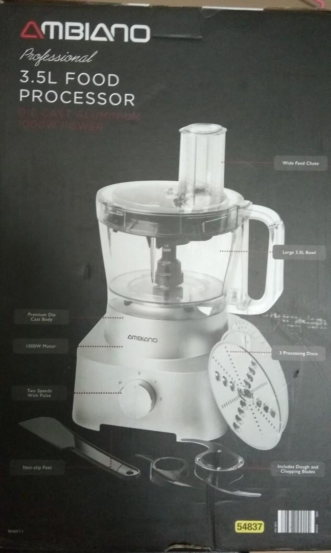 Underutilised Ambiano 3 5L Food Processor, 1000W, Home