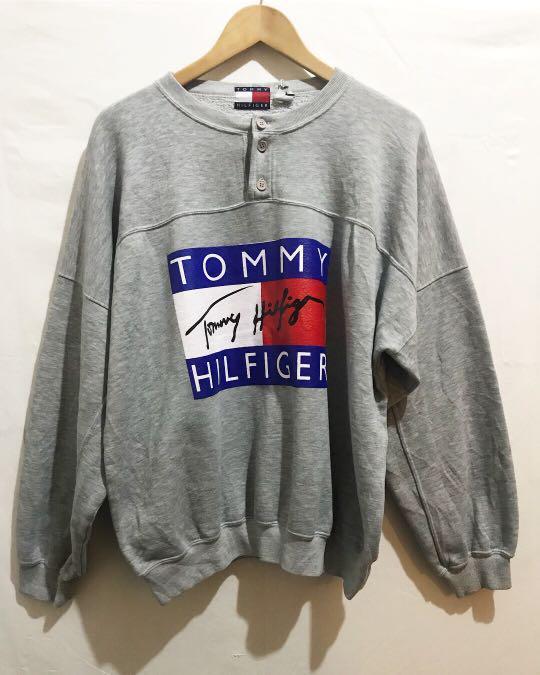 Vintage Bootleg Reprint TOMMY Sweatshirt in Grey