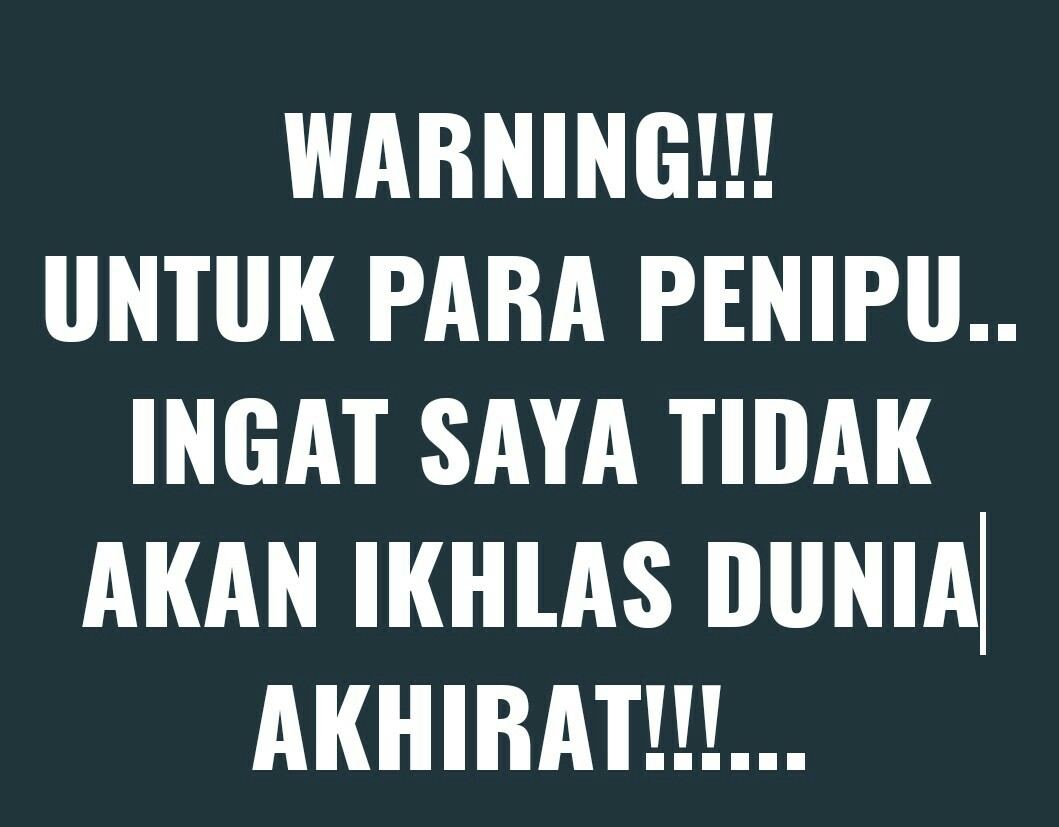 WARNING!!! PENIPU!!!