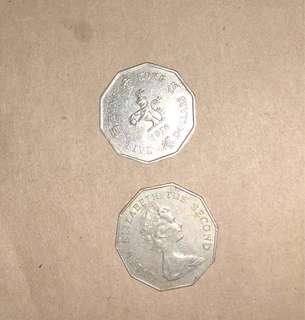 香港舊五元1976年