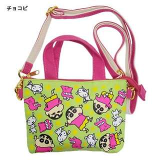 全新購自日本 蠟筆小新 防水手機小袋 手提包 隨身袋 斜孭袋 去街袋 觸控袋