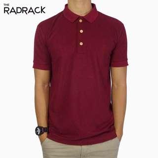 🚚 Basic Maroon Polo T-Shirt