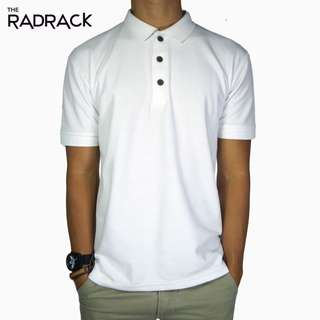 🚚 Basic White Polo T-Shirt