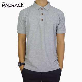 🚚 Basic Grey Polo T-Shirt