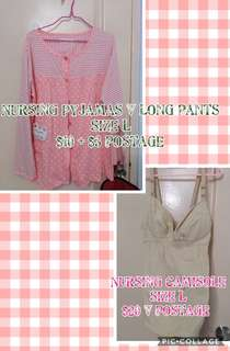 Nursing Pyjamas and Camisole