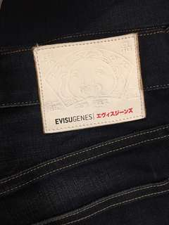 Evisu washed jeans 洗水牛仔褲
