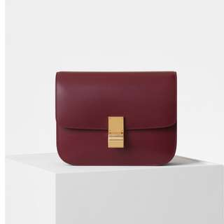 celine classic bag in BURGUNDY