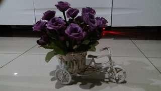 Bike Vase Shabby Chich Mawar Ungu #KanopiXCarousell